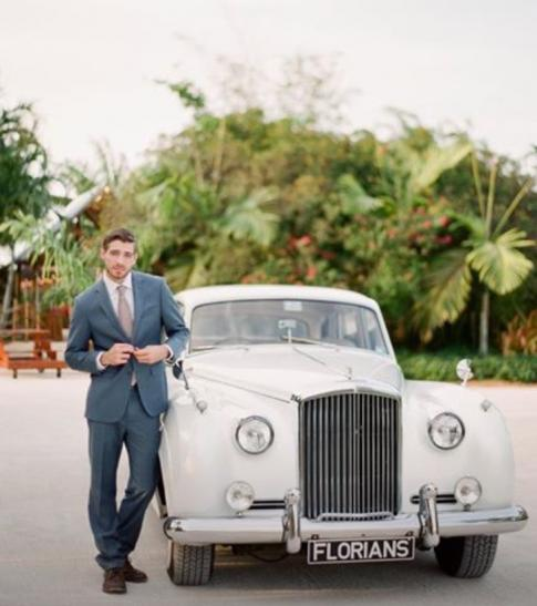 Great Though It Was Just For A Shoot, Zach  While Modeling Suits  Had A Fairy  Tale Wedding Complete With A Rolls Royce, A Horse, And A Beautiful Bride!